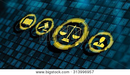 Labor Law Lawyer Legal Business Technology Concept