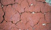 red brick of a wall with fissures poster