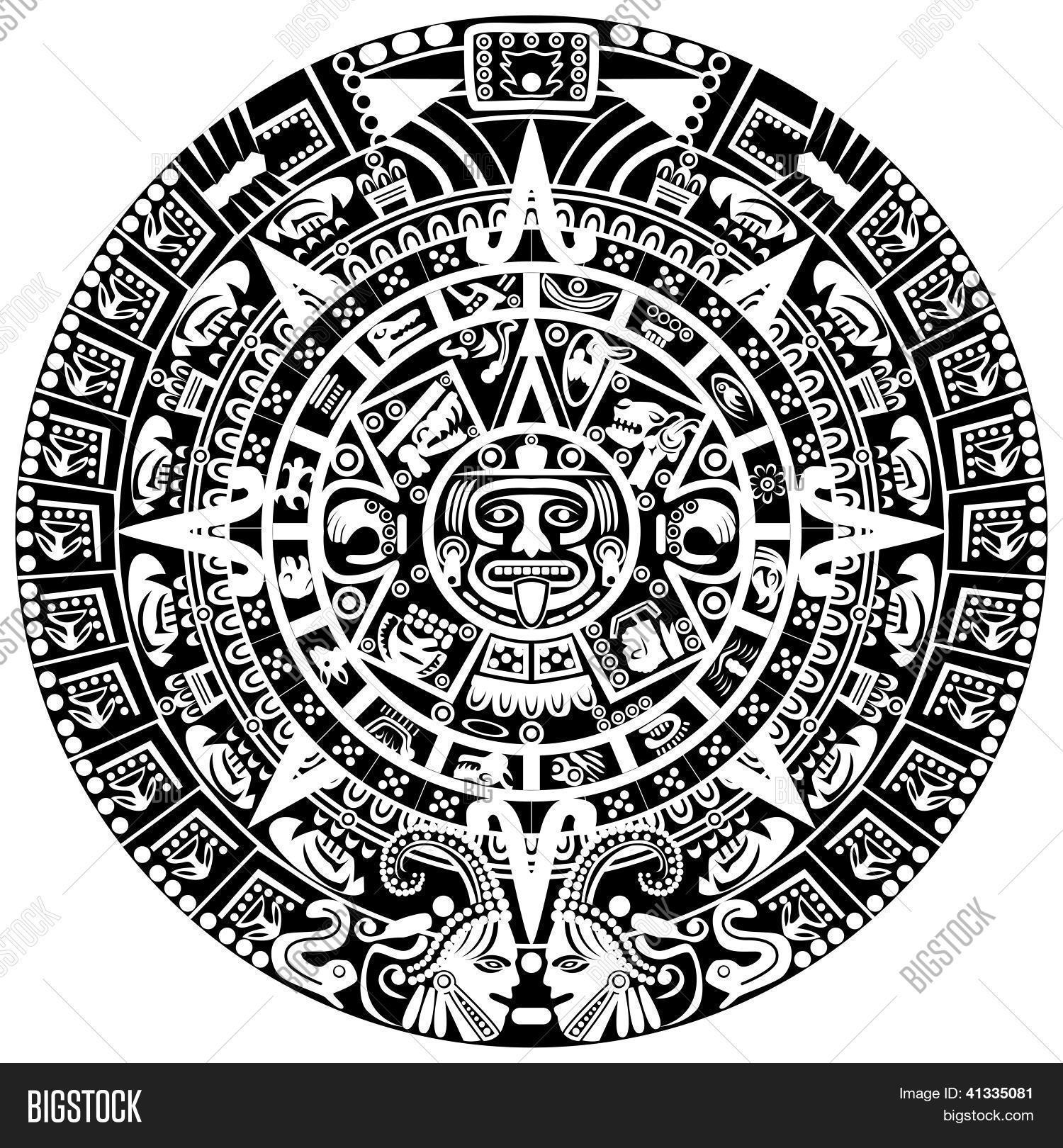 Calendario Maya Vector.Mayan Calendar Vector Photo Free Trial Bigstock