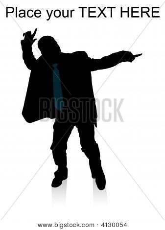 Dancing Adult Businessman