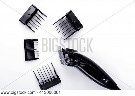 Hair Clipper Close-up. Hair Clipper On White Background