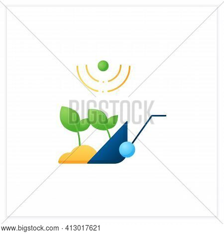 Harvesting Flat Icon. Process Of Gathering A Ripe Crop From The Fields. Harvest Using Machines Or By