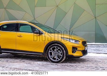 Moscow, Russia - January 10, 2021 Kia Xceed. Awd Hatchback Suv. New Kia Xceed Crossover Model Year 2