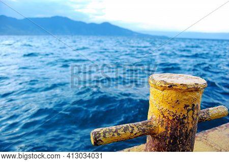 Pier Anchor At São Sebastião Ilhabela Beach. Used To Anchor Boats, Speedboats, Rafts And Even Ships