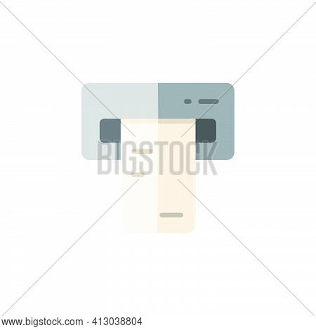 Ticket Vending Machine. Insert And Purchase. Flat Color Icon. Isolated Commerce Vector Illustration