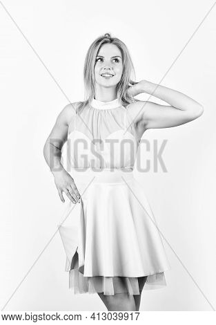 Adorable Blonde. Pretty Girl. Fashion And Beauty. Femininity And Tenderness. Lovely Girl Wear Fancy