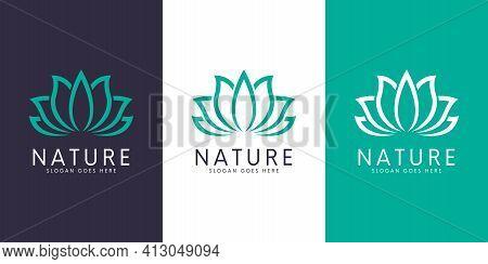 Nature Flower Logo Premium Vector Premium Logo Vector