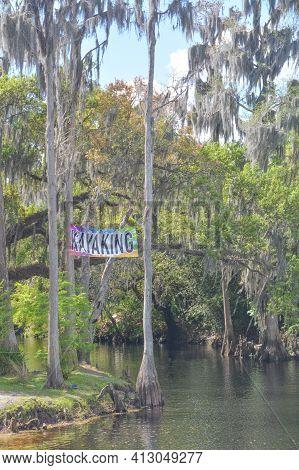 Kayaking On The Shingle Creek At Shingle Creek Regional Park, Osceola County, Kissimmee, Florida