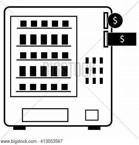 Vending Machine Icon On White Background. Automatic Vending Machine Sign. Vending Business Concept.
