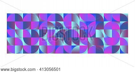 Mosaic Rectangle In Origami Style. Vector Creative Art. Graphic Element Vector. Color Pattern. Stock