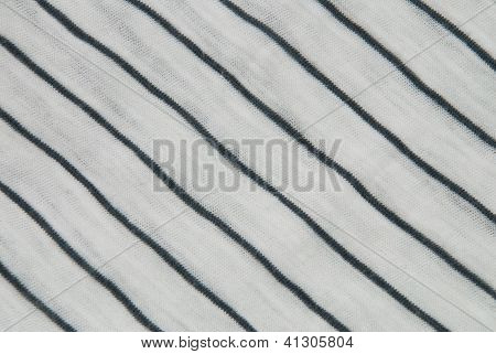 Cotton Background With Blue Stripes