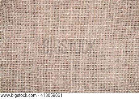 Rustic Burlap Fabric, Sackcloth Texture For Background.