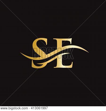 Se Linked Logo For Business And Company Identity. Creative Letter Se Logo Vector