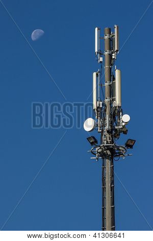Antenna to spread the signal of mobile phones poster