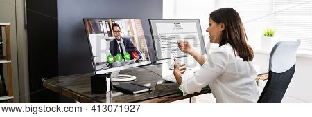 Online Video Conference Job Interview Meeting Call