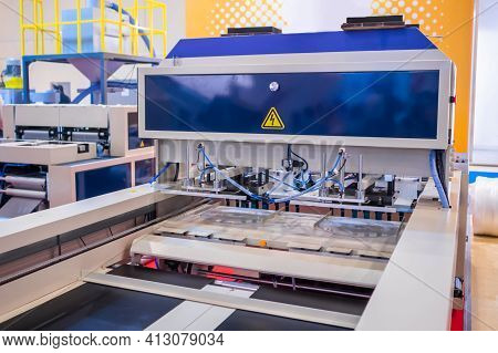 Fully Automatic High Speed Shopping Bag Making Machine With Servo Driving System At Package Exhibiti