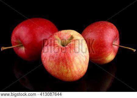 Apples Gala Grade Red Useful Fruit Close-up