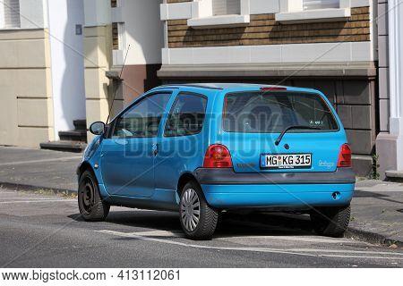 North Rhine-westphalia, Germany - September 16, 2020: Renault Twingo Hatchback City Car Parked In Ge