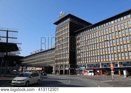 Moenchengladbach, Germany - September 18, 2020: Haus Westland Vacant Building Gladbach In Moenchengl