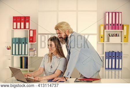 Business And Entrepreneurship. Modern Office Life. Together In Business. Businesspeople In Office. B