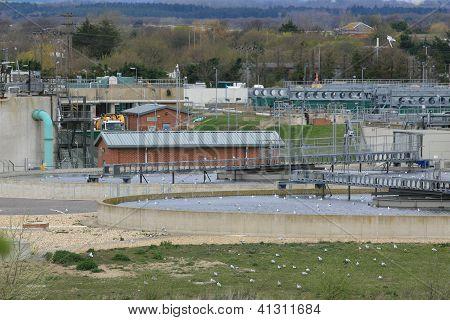 Sewage farm treatment plant