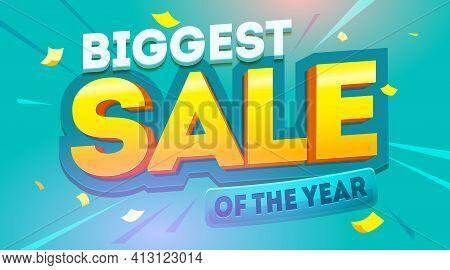 Big Sale Banner. Promo Discounts Vector Illustration. Background For Your Business Promotion. Sale F