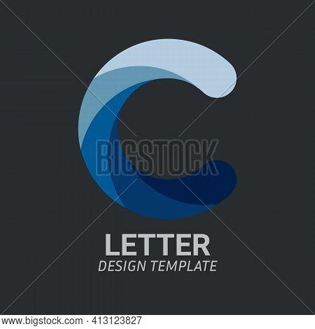 Initial Letter C Logo Icon Concept. Creative Minimal Alphabet Emblem Design Template. Graphic Symbol