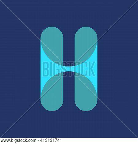 Initial Letter H Logo Icon Concept. Creative Minimal Alphabet Emblem Design Template. Graphic Symbol