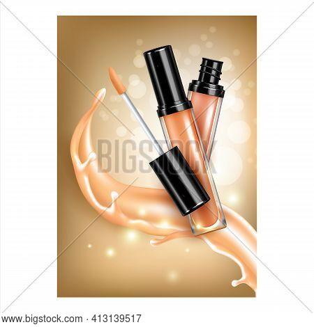 Concealer Facial Skin Care Liquid Banner Vector