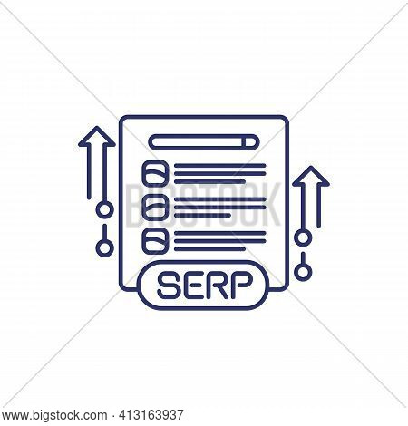 Serp And Seo Optimization Line Icon, Vector