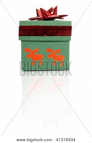 Gift Box With Red Decoration