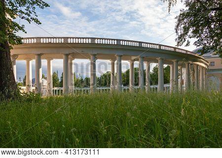 Colonnade Of The Znamenskoye-raek Estate In The Torzhsky District Of The Tver Region