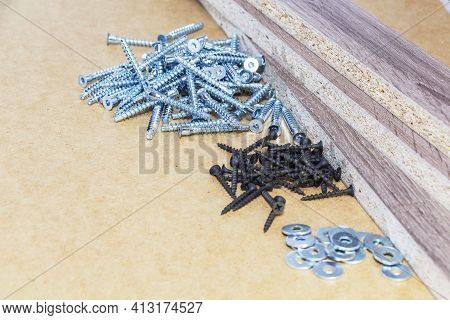 Screw-on For Furniture. Metal Screw. Vertical. Metal Screws. Furniture Fittings And Fittings. Stainl