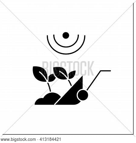 Harvesting Glyph Icon. Process Of Gathering A Ripe Crop From The Fields. Harvest Using Machines Or B