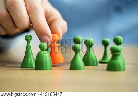 Holding Green Customer. Market Segment Or Candidate Selection