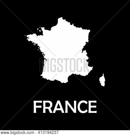 High Detailed Vector Map - France. Europe Mainland.