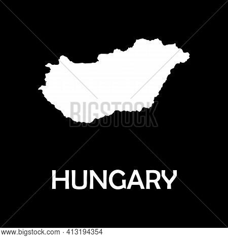 High Detailed Vector Map - Hungary. Europe Mainland.