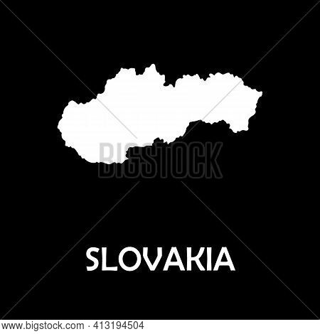 Vector Map-slovakia Country. Web Design. Europe Mainland.