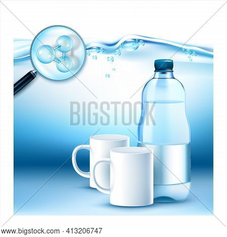 Water Enriched With Minerals Promo Banner Vector