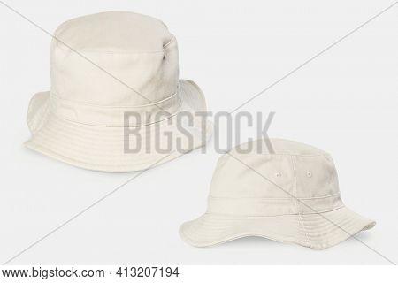 Unbleached bucket hat streetwear accessories set