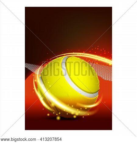 Tennis Sport Racquet Game Set Match Banner Vector