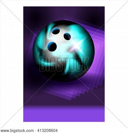Bowling Ball For Hit Target Ninepins Poster Vector