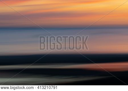 Abstract Intentional Camera Movement Sunset Coastal Backgrounds