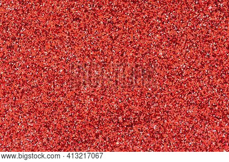 Red Glitter Foil Scatter Abstract Texture Background