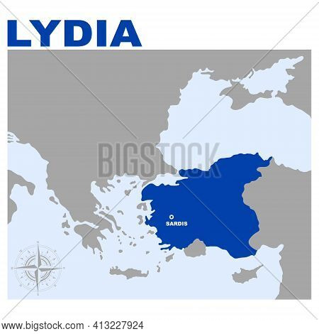 Vector Map Of Lydia For Your Project