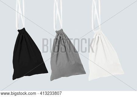 Basic drawstring bags accessory studio shoot