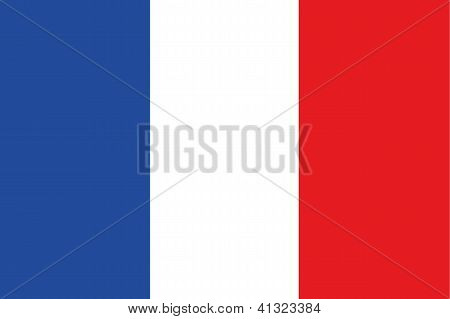 Illustrated Drawing of the flag of France