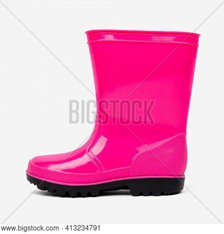 Pink rain boots footwear fashion