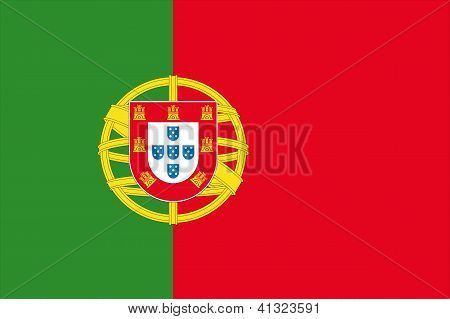 Illustrated Drawing of the flag of Portugal