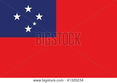 Illustrated Drawing of the flag of Western Samoa